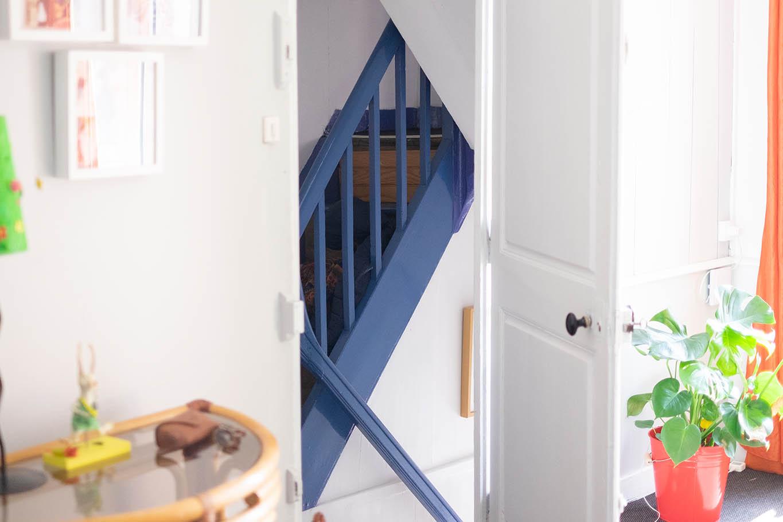 Une entrée indépendante pour le deuxième étage